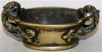 A GOOD  UNUSUAL SMALL 17TH18TH CENTURY CHINESE GILT