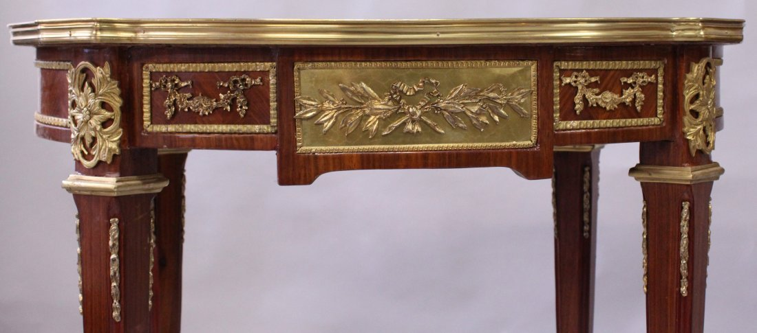 A PAIR OF LINKE STYLE KINGWOOD, MARQUETRY AND ORMOLU - 3