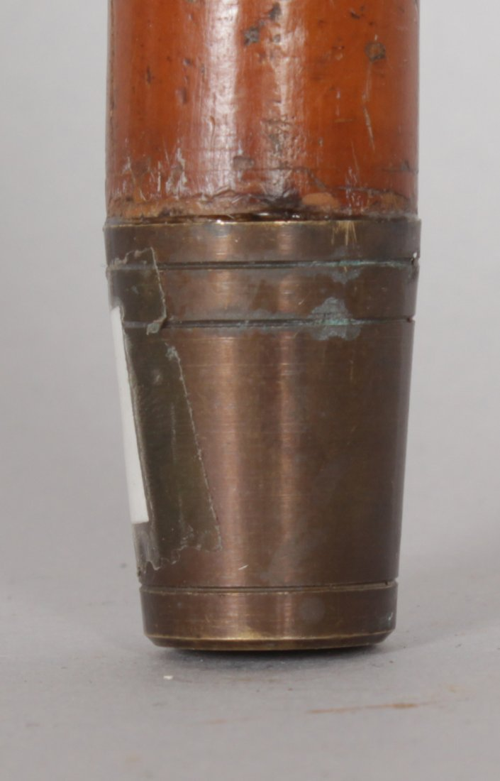 A VICTORIAN BAMBOO TYPE CANE WITH SILVER HANDLE, the - 4