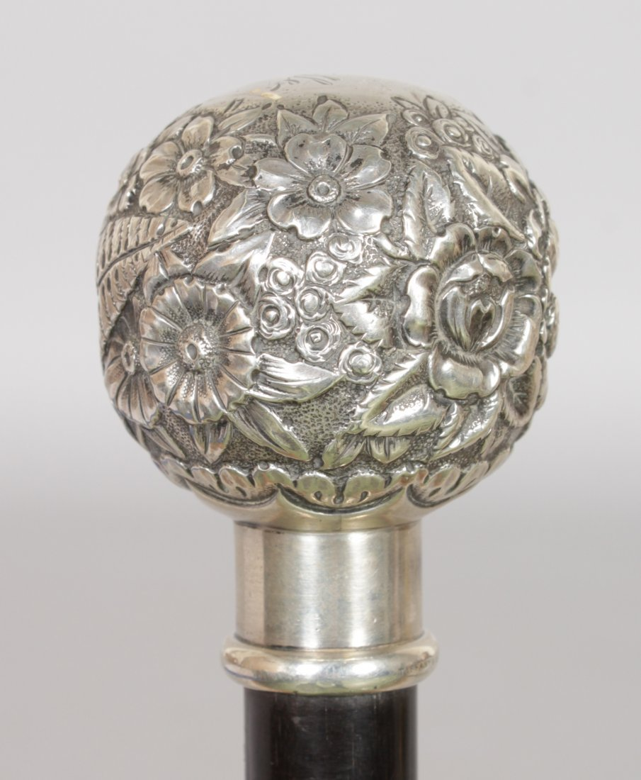 A SILVER TOPPED STICK by TIFFANY USA. Date: 1890. - 3