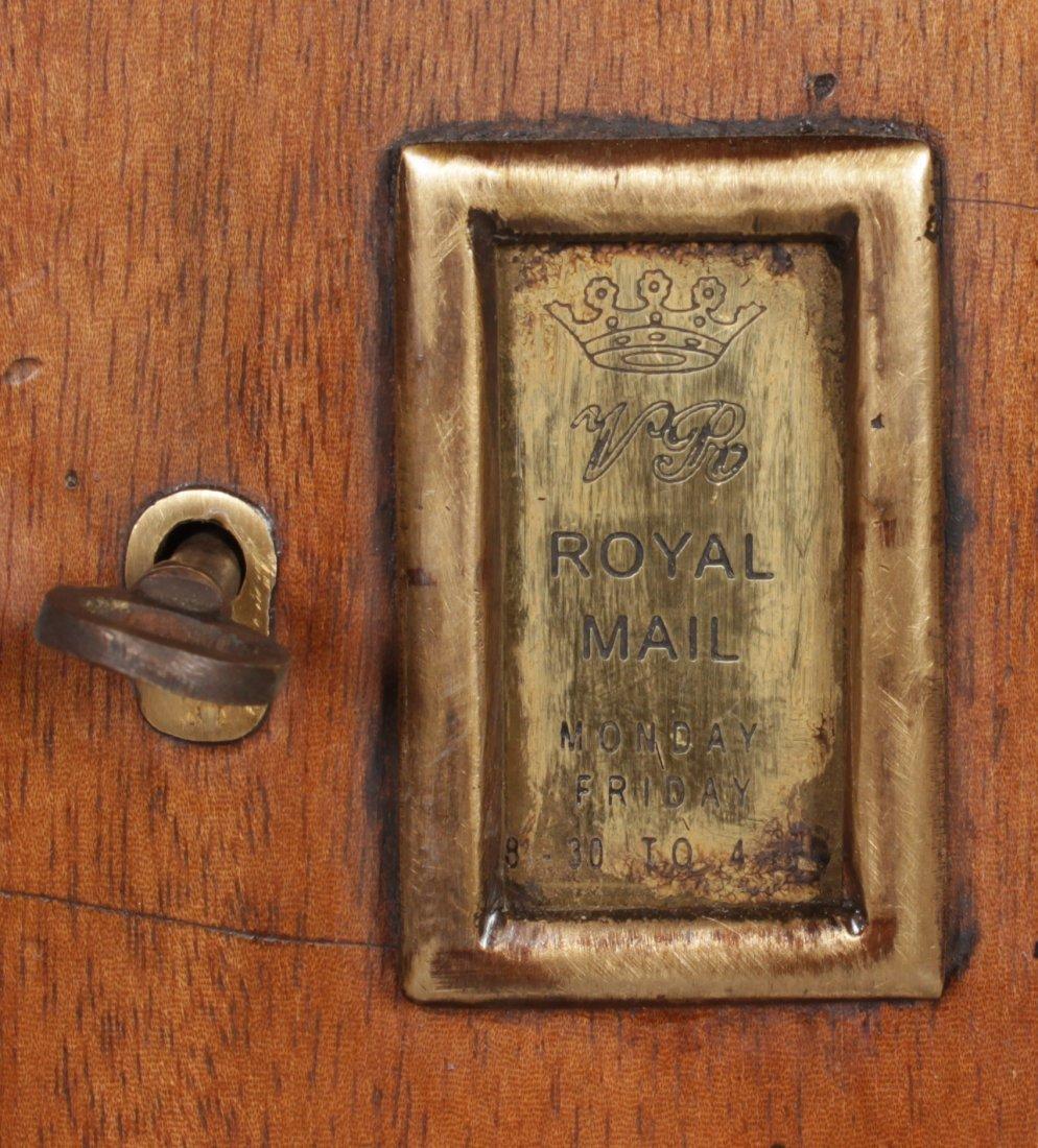 A VICTORIAN STYLE MAHOGANY HEXAGONAL SHAPED PILLAR BOX, - 4