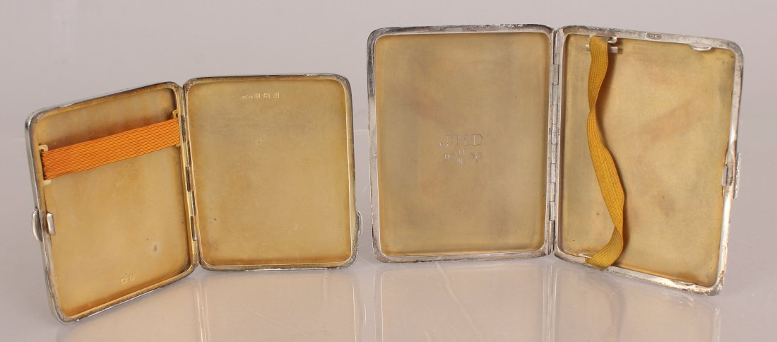 TWO SILVER CIGARETTE CASES. - 2
