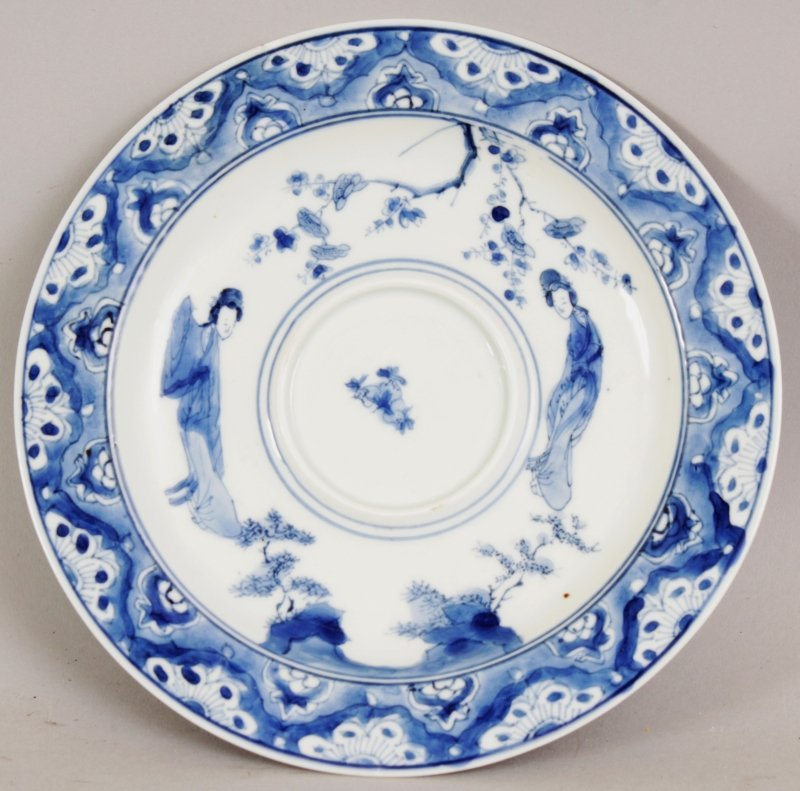 A CHINESE KANGXI MARK & PERIOD BLUE & WHITE PORCELAIN