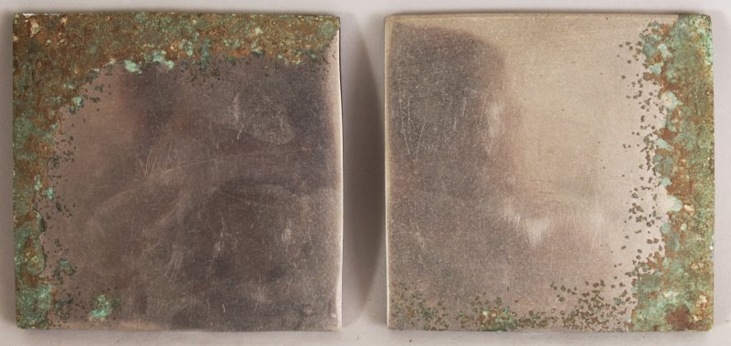 A SMALLER PAIR OF CHINESE TANG STYLE SILVERED BRONZE - 4