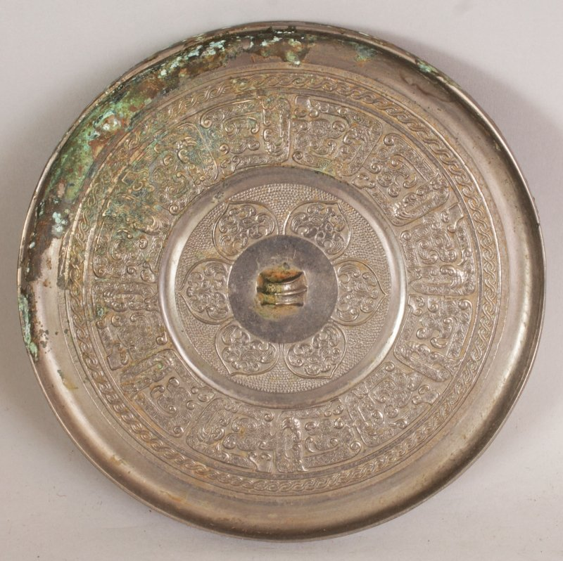 A GROUP OF THREE CHINESE TANG STYLE BRONZE CIRCULAR - 2
