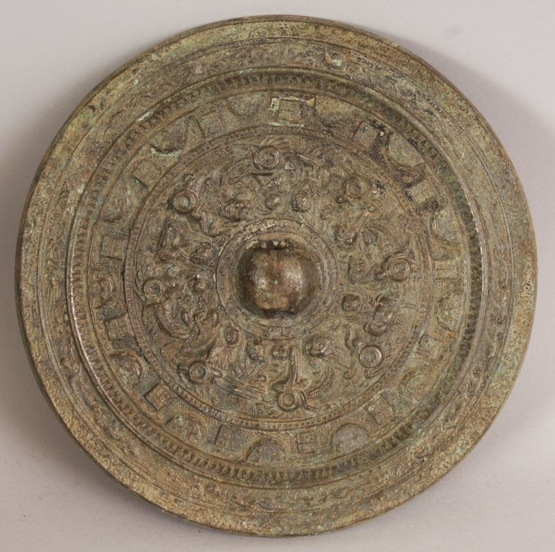 A GROUP OF THREE CHINESE TANG STYLE BRONZE CIRCULAR - 8