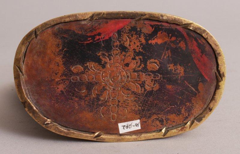 A SINO-TIBETAN GILT BRONZE FIGURE OF MAHAKALA, seated - 5