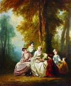 Gabeez 19th Century European Elegant Ladies with