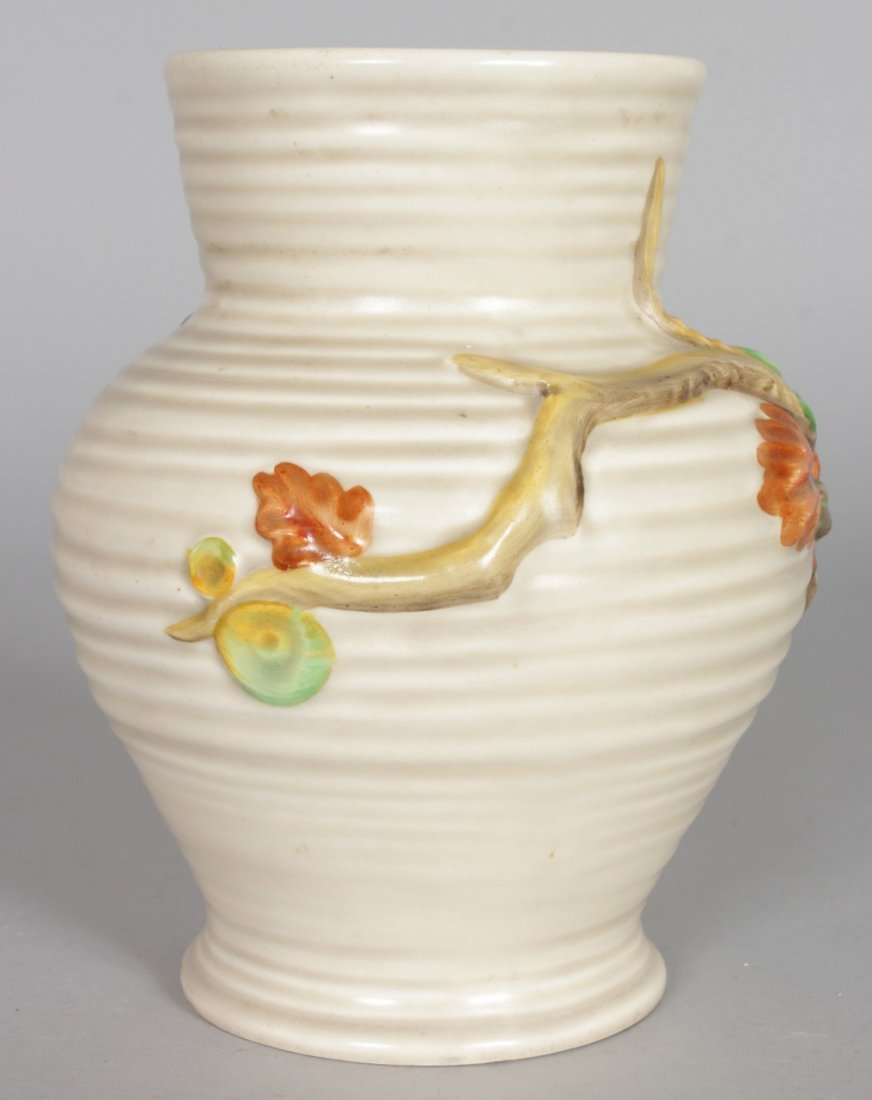 A CLARICE CLIFF VASE, of baluster form, relief - 3