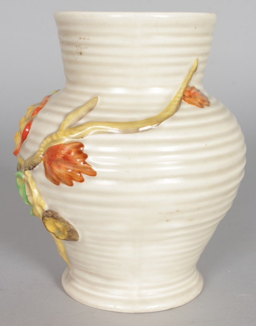 A CLARICE CLIFF VASE, of baluster form, relief - 4