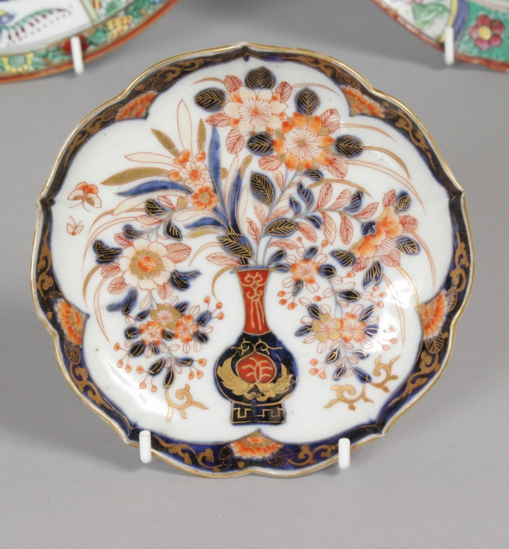 FOUR VARIOUS CHINESE PLATES AND A SAUCER. - 6