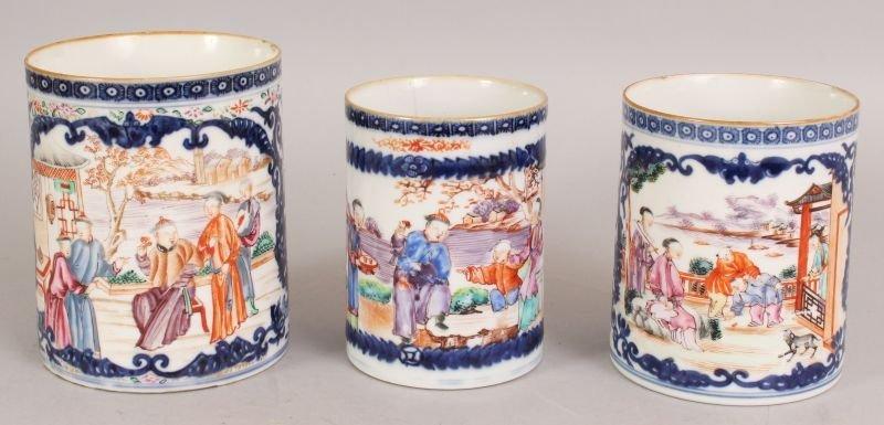 A GRADUATED SET OF THREE 18TH CENTURY CHINESE QIANLONG