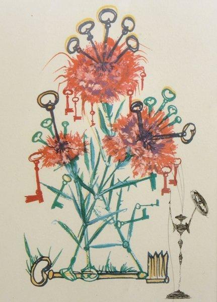 """Salvador Dali (1904-1989) Spanish. """"Carnation Keys"""","""