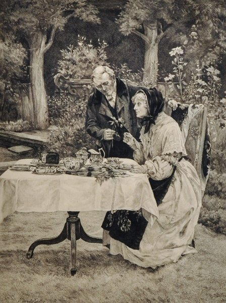 "Walter Dendy Sadler (1854-1923) British. ""Tea in the"