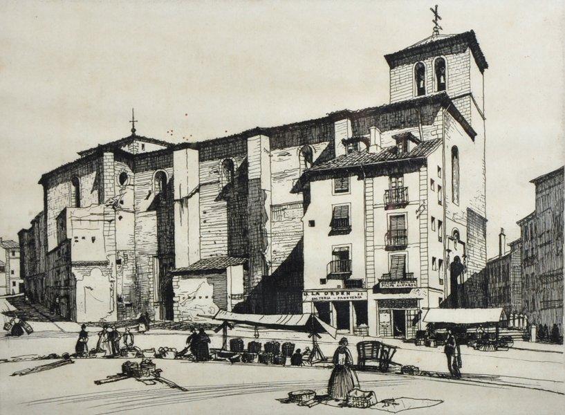Keith Murray (20th Century) British. An Italian Street