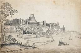 Late 18th Century English School. A Coastal Scene, with