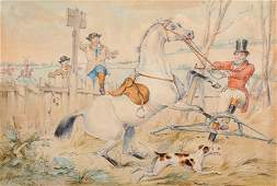 Attributed to Henry Alken 18101894 British Hunting