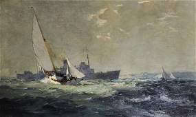 Leslie Arthur Wilcox (1904-1982) British. 'Rough