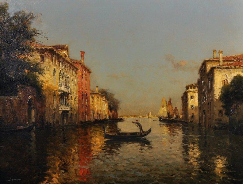 Antoine Bouvard (1870-1956) French. A Venetian Scene,