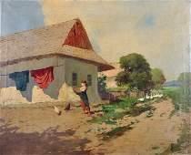 Laszlo Neogrady 18961962 Hungarian A Young Girl