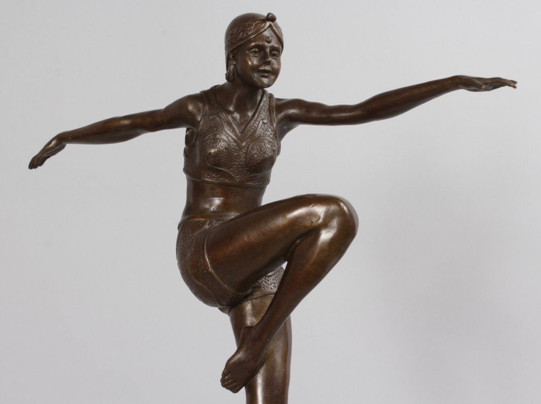 AFTER J. PHILIPP, A BRONZE DANCER.  Signed, on a - 2