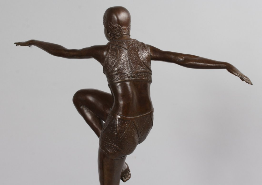 AFTER J. PHILIPP, A BRONZE DANCER.  Signed, on a - 6