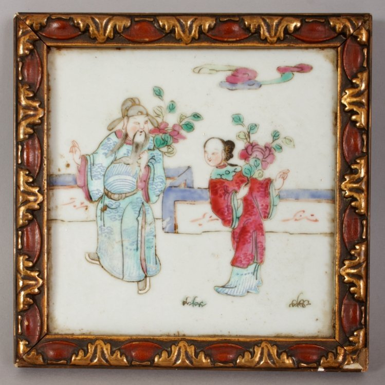 A PAIR OF LATE 19TH CENTURY LACQUER FRAMED CHINESE - 3