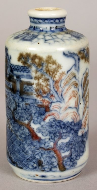 A 19TH/20TH CENTURY CHINESE UNDERGLAZE-BLUE &