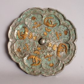 ANOTHER GOOD GILDED & SILVERED CHINESE TANG DYNASTY