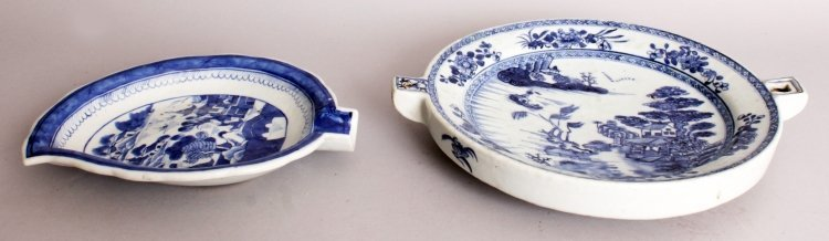 AN 18TH CENTURY CHINESE QIANLONG PERIOD BLUE & WHITE - 2