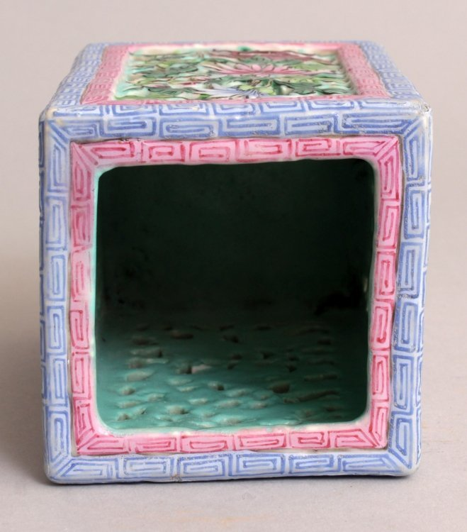A GOOD QUALITY 19TH CENTURY CHINESE RETICULATED SQUARE - 5