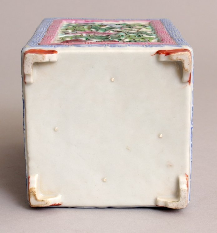 A GOOD QUALITY 19TH CENTURY CHINESE RETICULATED SQUARE - 6