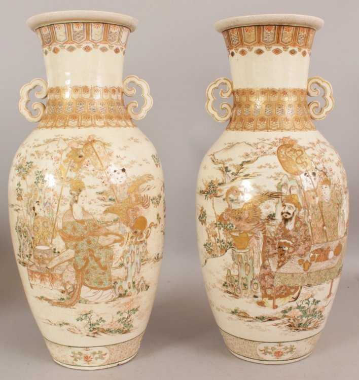 A LARGE PAIR OF 19TH/20TH CENTURY JAPANESE KYOTO - 3