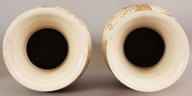 A LARGE PAIR OF 19TH/20TH CENTURY JAPANESE KYOTO - 8