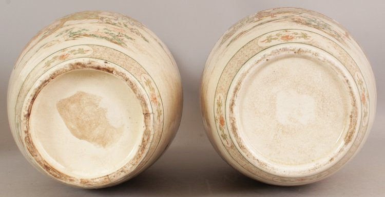 A LARGE PAIR OF 19TH/20TH CENTURY JAPANESE KYOTO - 9