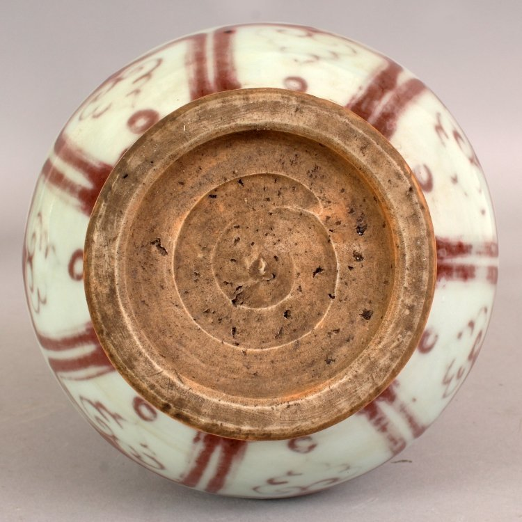 A CHINESE YUAN STYLE COPPER RED PORCELAIN VASE, the - 8