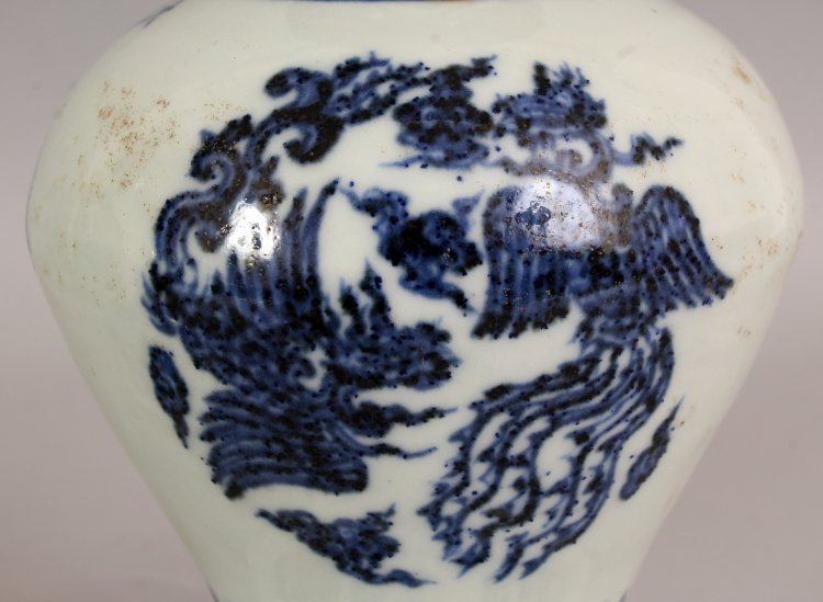 AN UNUSUAL PAIR OF MING STYLE PORCELAIN VASES, each - 6