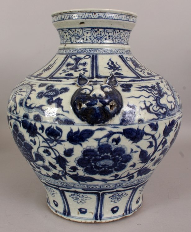 A LARGE CHINESE YUAN STYLE PORCELAIN VASE, decorated - 2