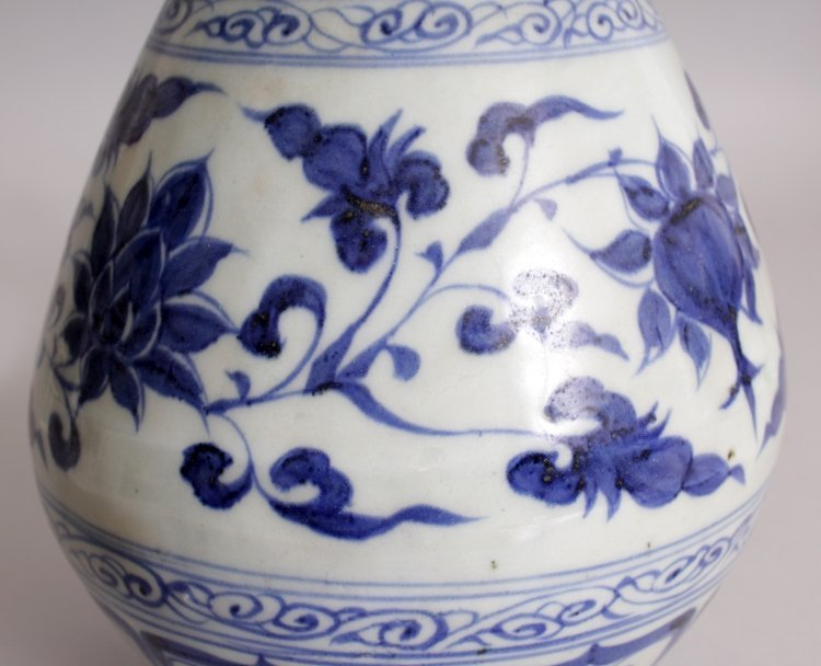 A CHINESE YUAN STYLE BLUE & WHITE YUHUCHUNPING - 7