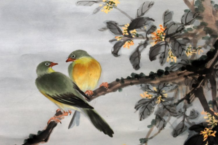 ANOTHER 20TH CENTURY CHINESE HANGING PAINTING ON PAPER, - 2