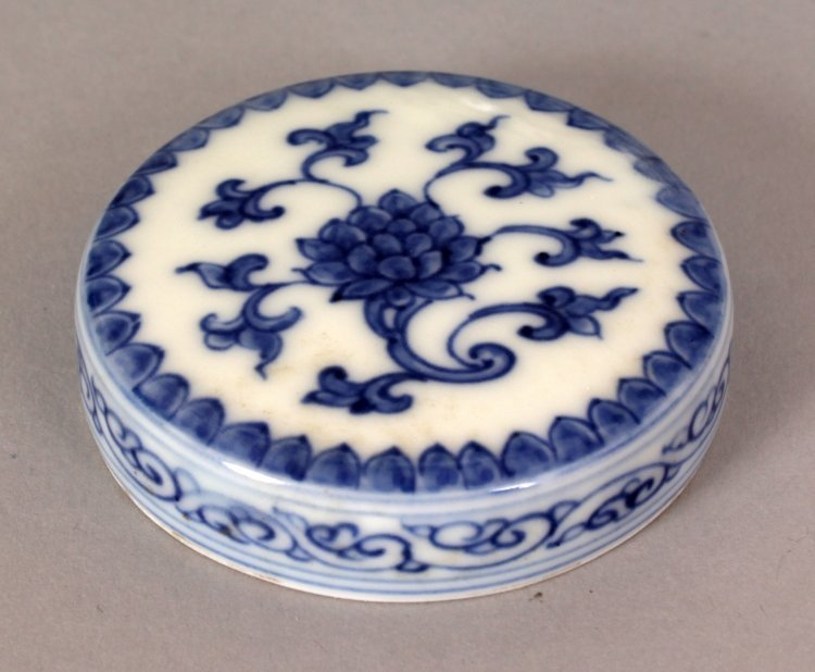 A SMALL CHINESE MING STYLE BLUE & WHITE HEAVEN JAR & - 9