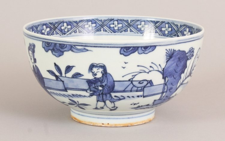 A CHINESE WANLI STYLE BLUE & WHITE PORCELAIN BOWL, the - 3
