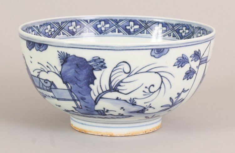 A CHINESE WANLI STYLE BLUE & WHITE PORCELAIN BOWL, the - 4