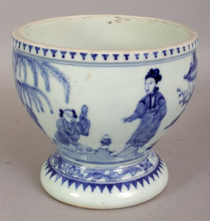 A 19TH/20TH CENTURY CHINESE BLUE & WHITE PORCELAIN