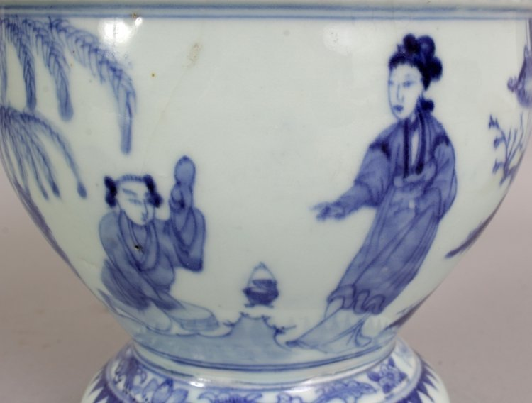 A 19TH/20TH CENTURY CHINESE BLUE & WHITE PORCELAIN - 5