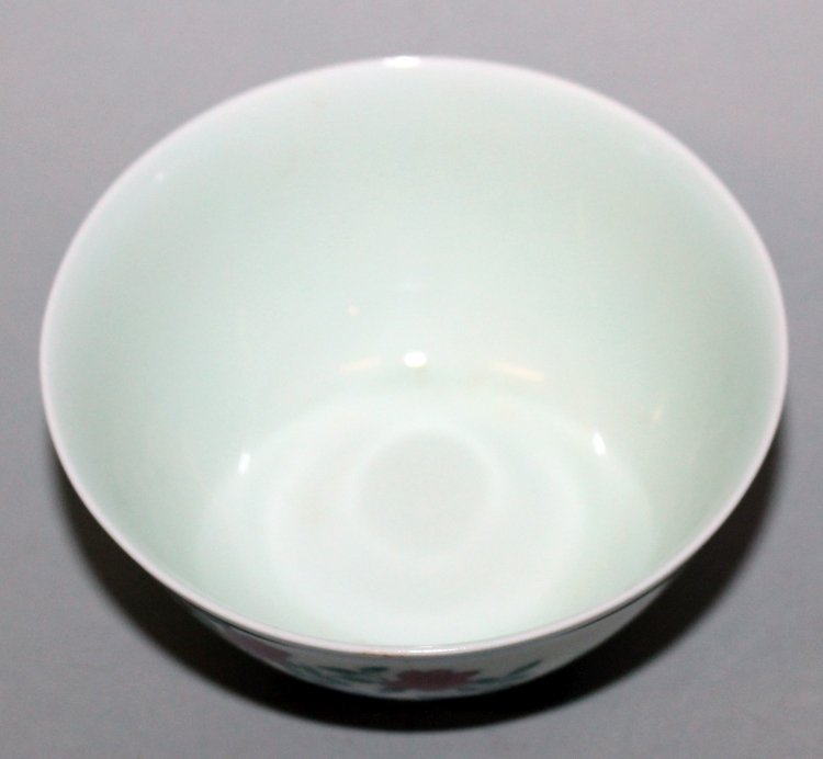 A CHINESE DOUCAI PORCELAIN CHICKEN CUP, the base with a - 3