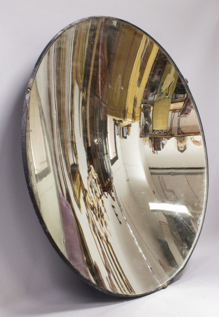 A RARE LIGHTHOUSE CONCAVE REFLECTING MIRROR, etched