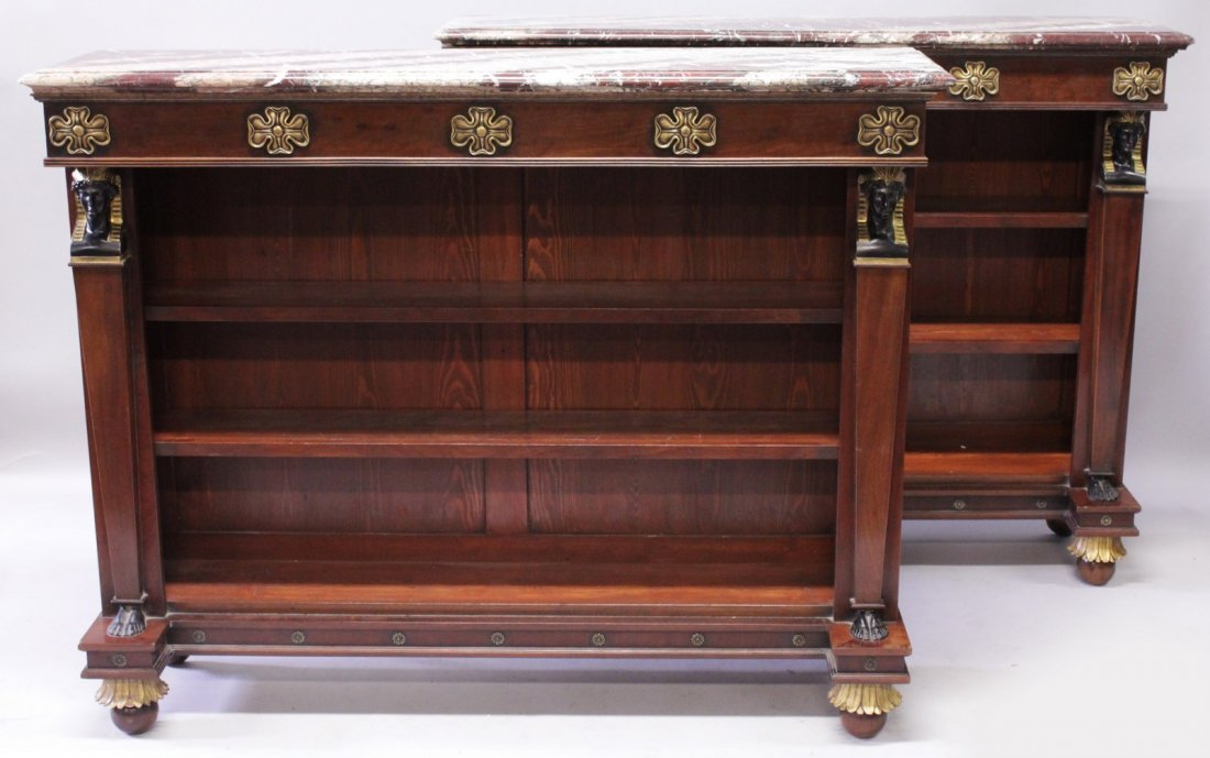 A SUPERB PAIR OF THOMAS HOPE DESIGN OPEN STANDING