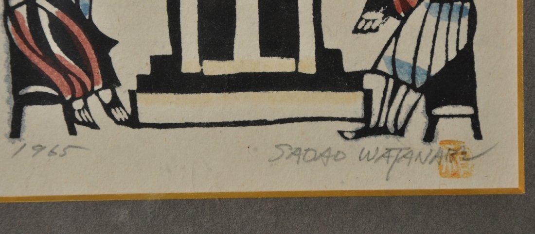 Sadao Watanabe (1913-1996) Japanese. 'Christ', Woodcut - 3