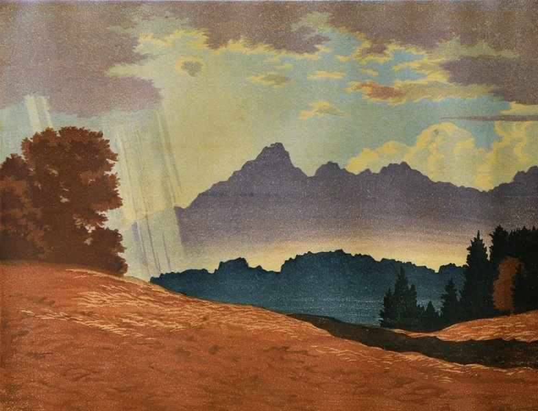 "Engelbert Lap (1886-1970) Austrian. ""After Rain"" (circa"